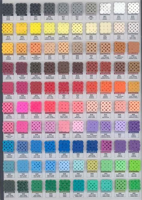 Perler Bead Color Chart Craft Tutorials
