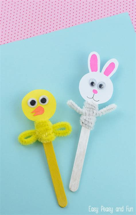 easter craft easter craft stick puppets easy peasy and