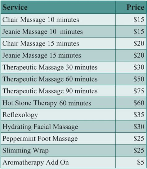 services and pricing atoka massage therapy