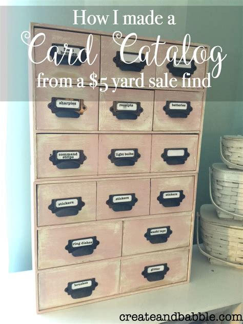 how to make a card catalog card catalog from a 5 yard sale find create and babble