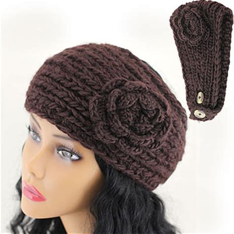 free knitted headband pattern with button closure crochet headband flower button closure only new crochet