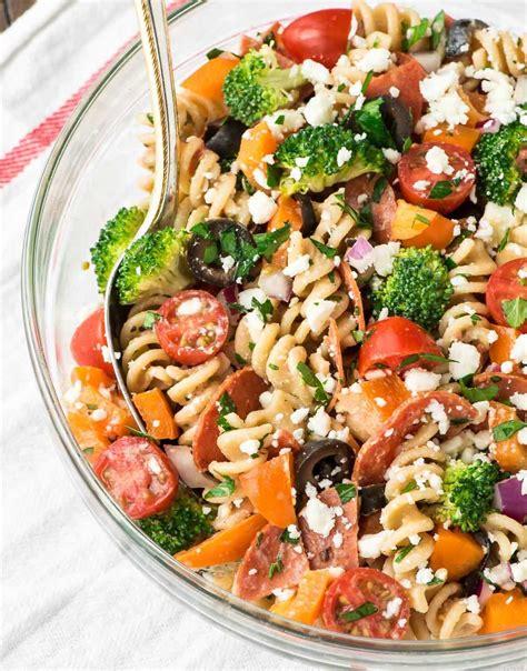 pasta salad recipe healthy pasta salad dressing