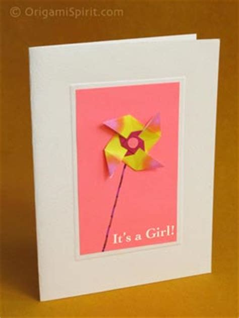how to make origami greeting cards using a traditional origami windmill for greeting cards