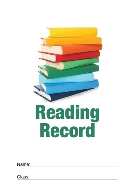 what is a fax cover page standard reading record rrs04