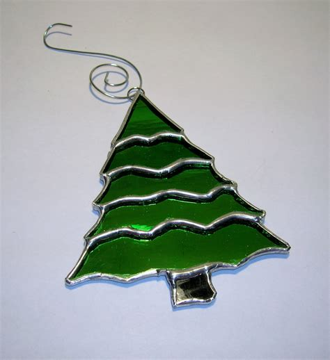 tree glass ornaments stained glass tree ornament