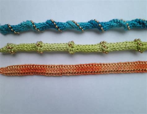 i cord knitting beaded i cord bracelets by ravenswoodknit craftsy