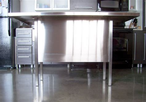 stainless steel kitchen island pk steel designs products
