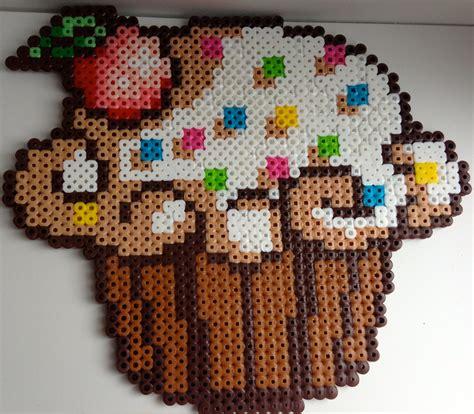 perler cupcake large cupcake perler bead figure