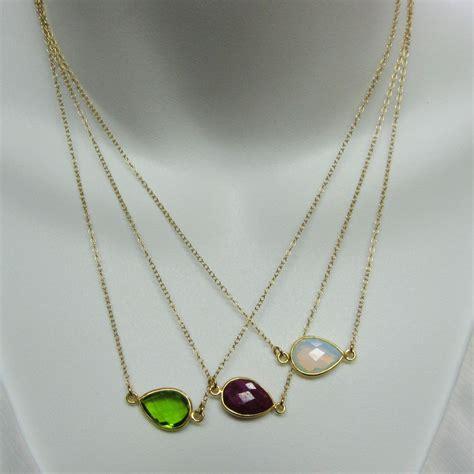 gemstone for jewelry birthstone gemstone necklace bezel gemstone pear connector