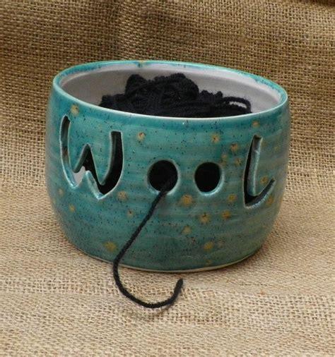 knitting bowl pottery yarn bowl knitting or crochet wool thrown pottery ceramic