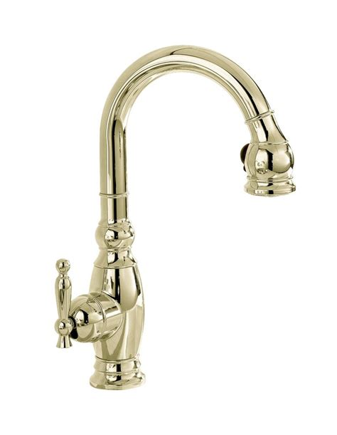 polished nickel kitchen faucets kohler vinnata secondary kitchen sink faucet in vibrant polished nickel the home depot canada