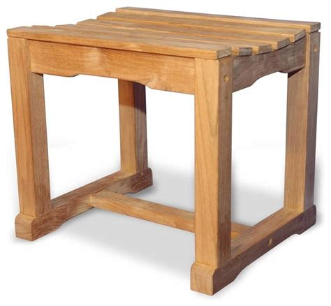 Teak Bathroom Benches by Teak Bench Single Seat By Regal Teak Contemporary