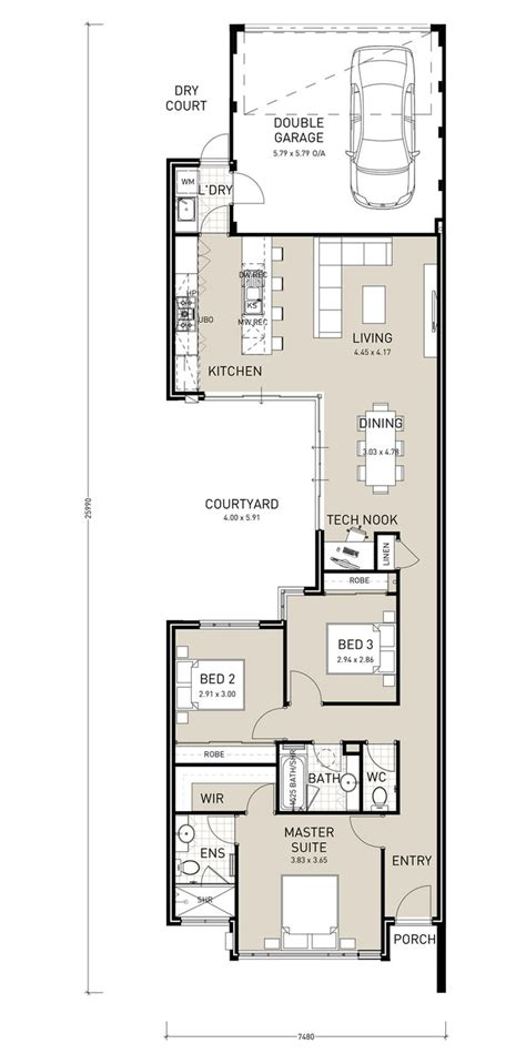 home plans for narrow lot 25 best ideas about narrow lot house plans on narrow house plans ft island