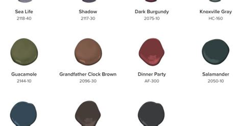 paint colors for 2017 benjamin benjamin 2017 color palette deeper hues 2018