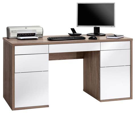 white oak desk maja salzburg oak white computer desk