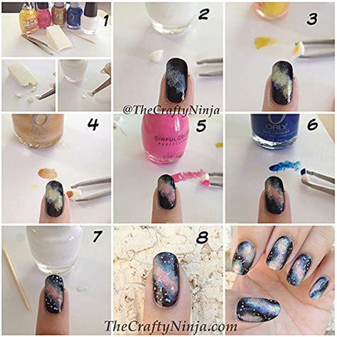diy designs galaxy nail design diy alldaychic