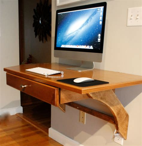 wall mounted computer desk wooden wall mounted computer desk diy with imac and