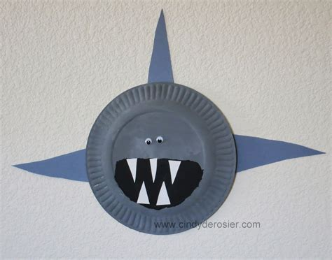 easy shark crafts for derosier my creative paper plate sharks