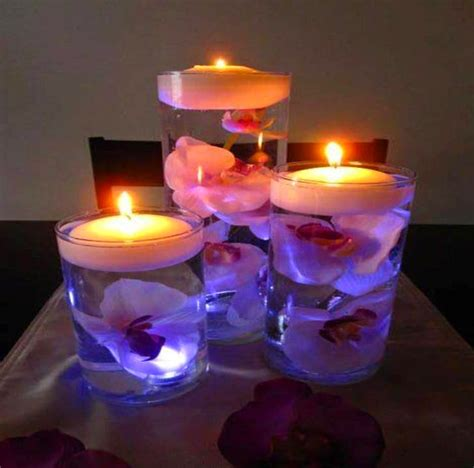 water and floating candles home decor floating water candles with flowers
