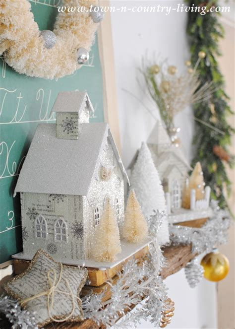 Kitchen Mantel Ideas vintage christmas mantel town amp country living