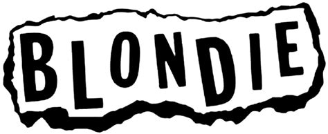 Posters Home Decor by Blondie Torn Paper Logo Rub On Sticker Black