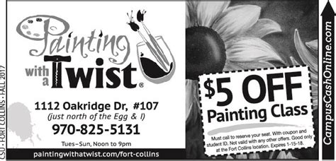 paint with a twist coupon codes painting with a twist cus coupons a web coupon