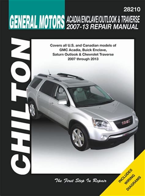 old car manuals online 2010 buick enclave spare parts catalogs gm acadia enclave outlook traverse repair manual 2007 2013 chilton
