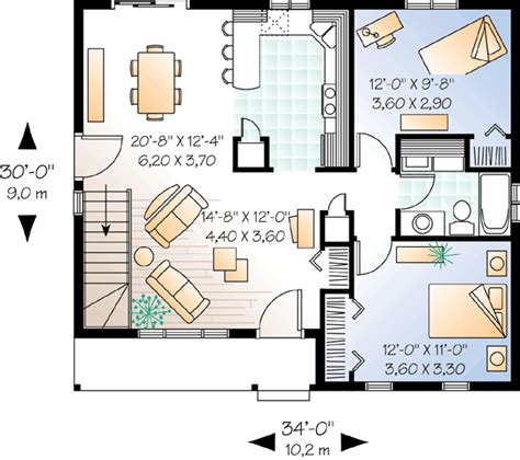 2 bedroom ranch house plans 2 bedroom ranch with carport 21040dr 1st floor master suite cad available canadian