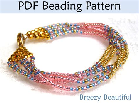 beading patterns pdf breezy beautiful bracelet pdf beading pattern by