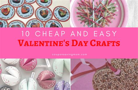cheap and easy crafts for 10 cheap and easy s day crafts coupon saving