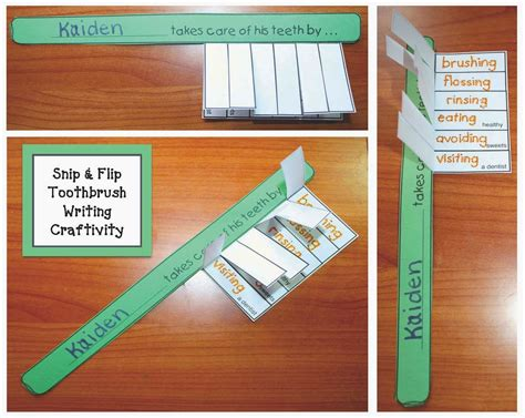 hygiene crafts for classroom freebies toothbrush dental hygiene writing