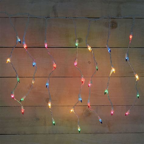 colored string lights 50 count icicle multi color string lights