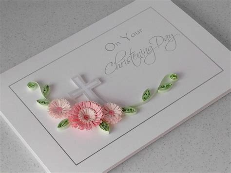 how to make paper quilling cards paper cards quilled christening card