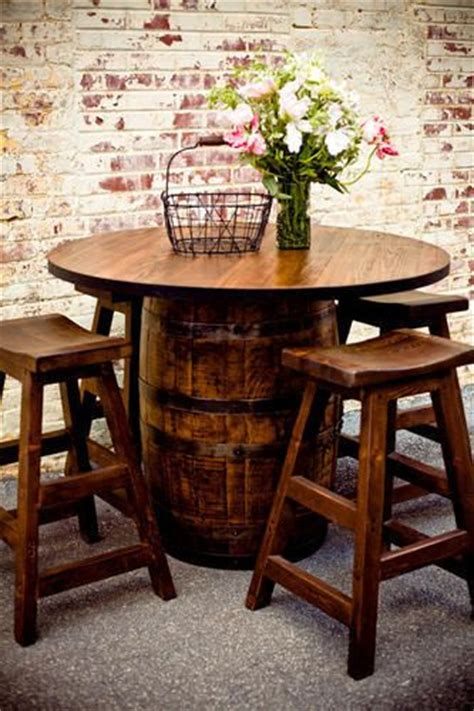heritage woodworks whiskey barrel pub table southern heritage woodworks