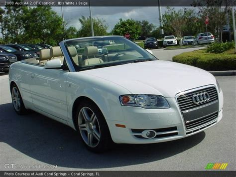 2008 Audi A4 Convertible by 2008 Audi A4 2 0t Cabriolet In Ibis White Photo No 583590