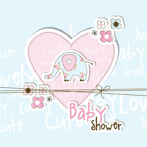 baby shower lovely baby shower free vector graphic