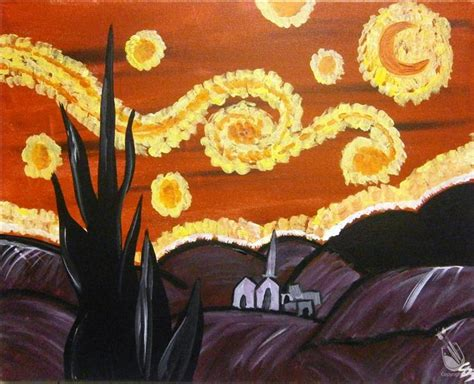 paint with a twist bethlehem starry sunday april 17 2016 painting with
