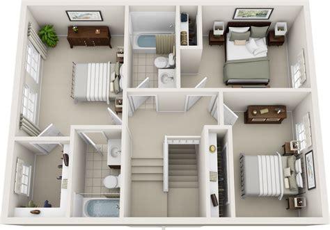 3 bedroom 2 bathroom floor plans three bedroom floor plans charleston apartments