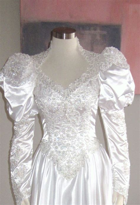 heavily beaded wedding dress vintage white heavily beaded bridal gown vintage by