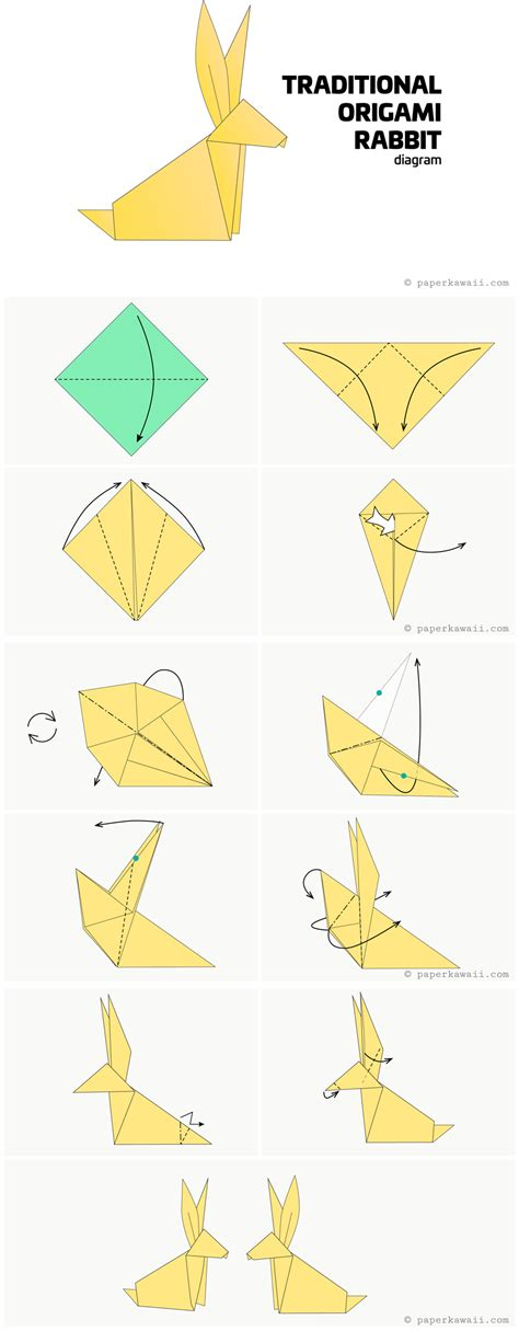 origami of origami diagrams paper kawaii