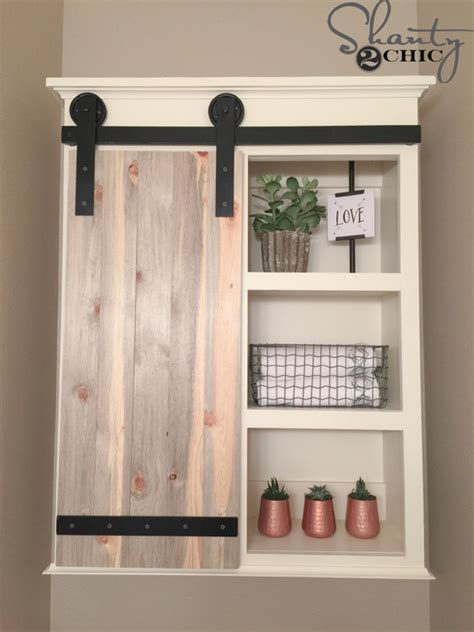 diy small bathroom ideas diy sliding barn door bathroom cabinet shanty 2 chic