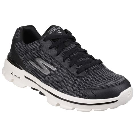 skechers knit shoes skechers go walk 3 fit knit s black white sports