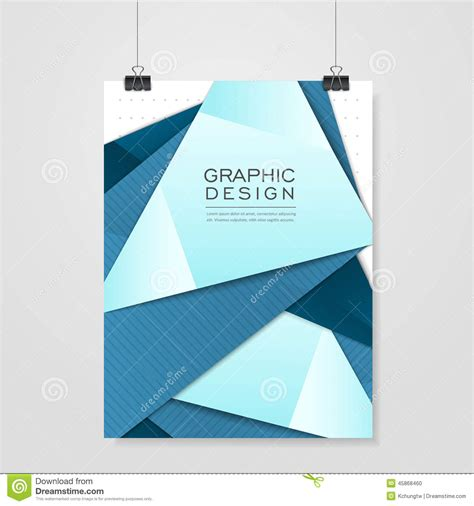 modern origami modern origami style design for poster template stock