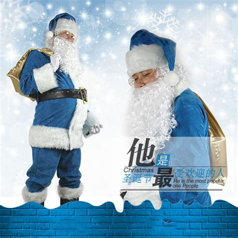 blue santa popular blue santa suit buy cheap blue santa suit lots