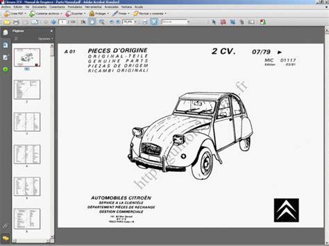 Citroen 2cv Parts by Citro 203 N 2cv Manual De Despiece Parts Manual Ebay