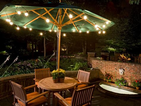 outdoor patio lights outdoor landscape lighting hgtv