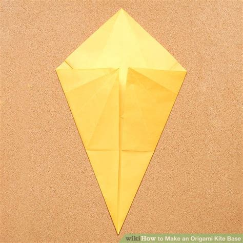 how to make origami kite how to make an origami kite base 5 steps with pictures