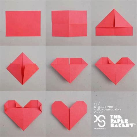 paper hearts origami 15 best photos of fold a paper how to fold a paper