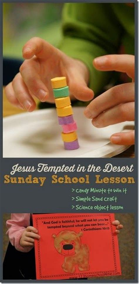 temptation of jesus crafts for jesus tempted in the desert sunday school lessons for