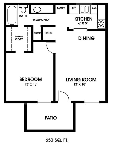 one bedroom flat floor plans best 25 one bedroom apartments ideas on one